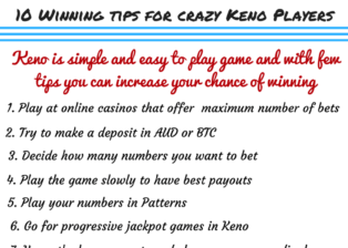 10 winning tips for keno