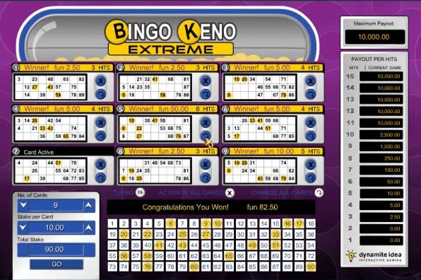 Bingo Keno Extreme game