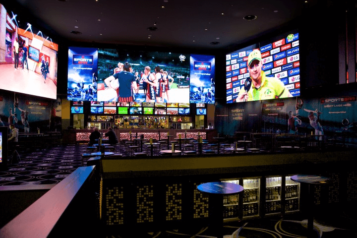 Crown sports bar at Perth
