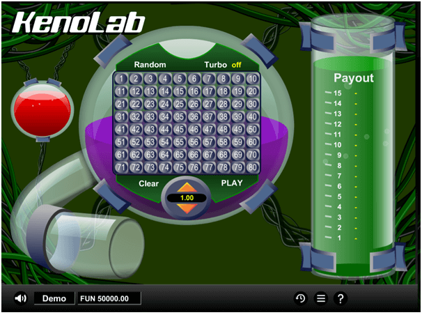 Keno Lab play online