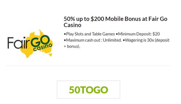 Fair Go Casino Keno Bonus
