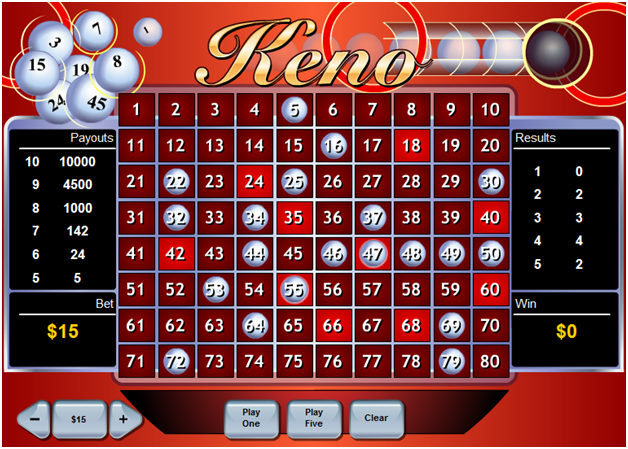Fortune keno game by Playtech