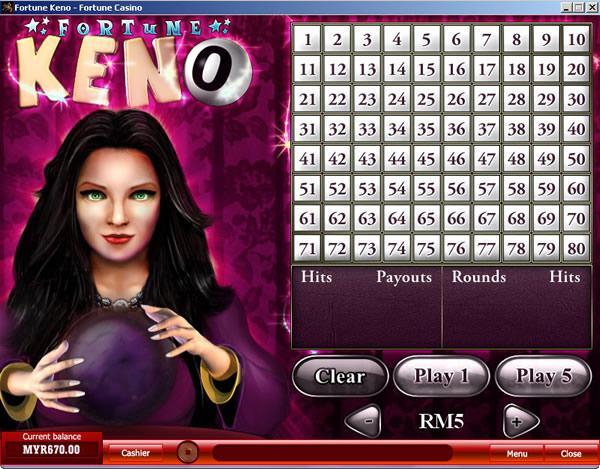 Fortune keno game