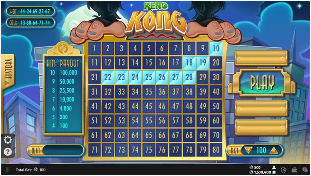 How to play Keno Kong?