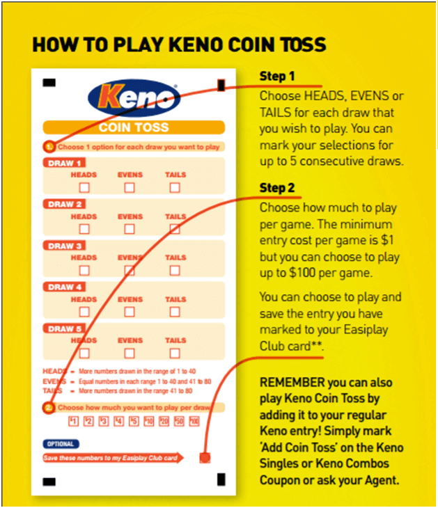 How to play Keno Coin toss