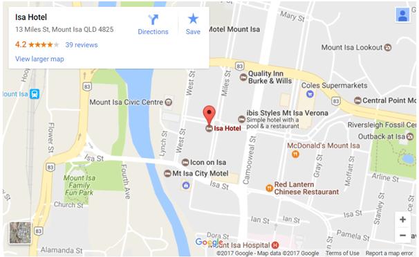 Isa Hotel Map