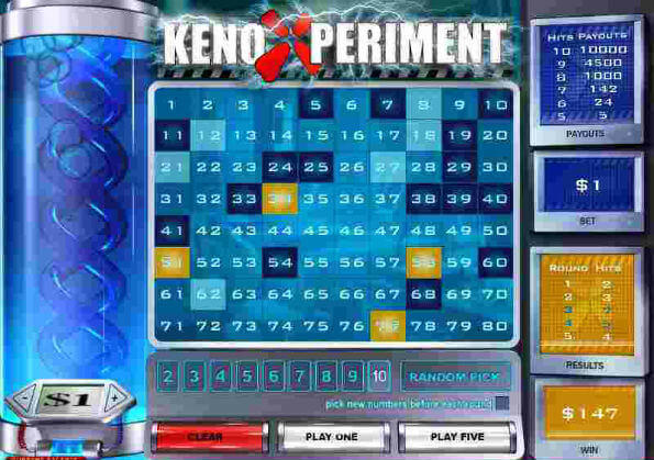 High payout keno