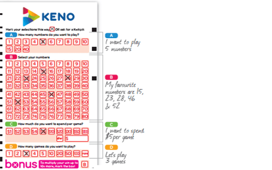 Keno Let's Plat Ticket