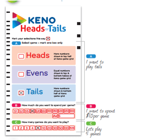 Keno frequency numbers