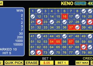 How to play Keno Super 4 X