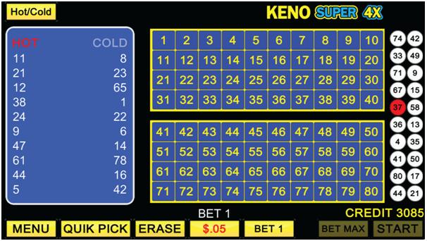 Keno Super 4 X