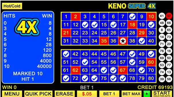 Keno Super 4X