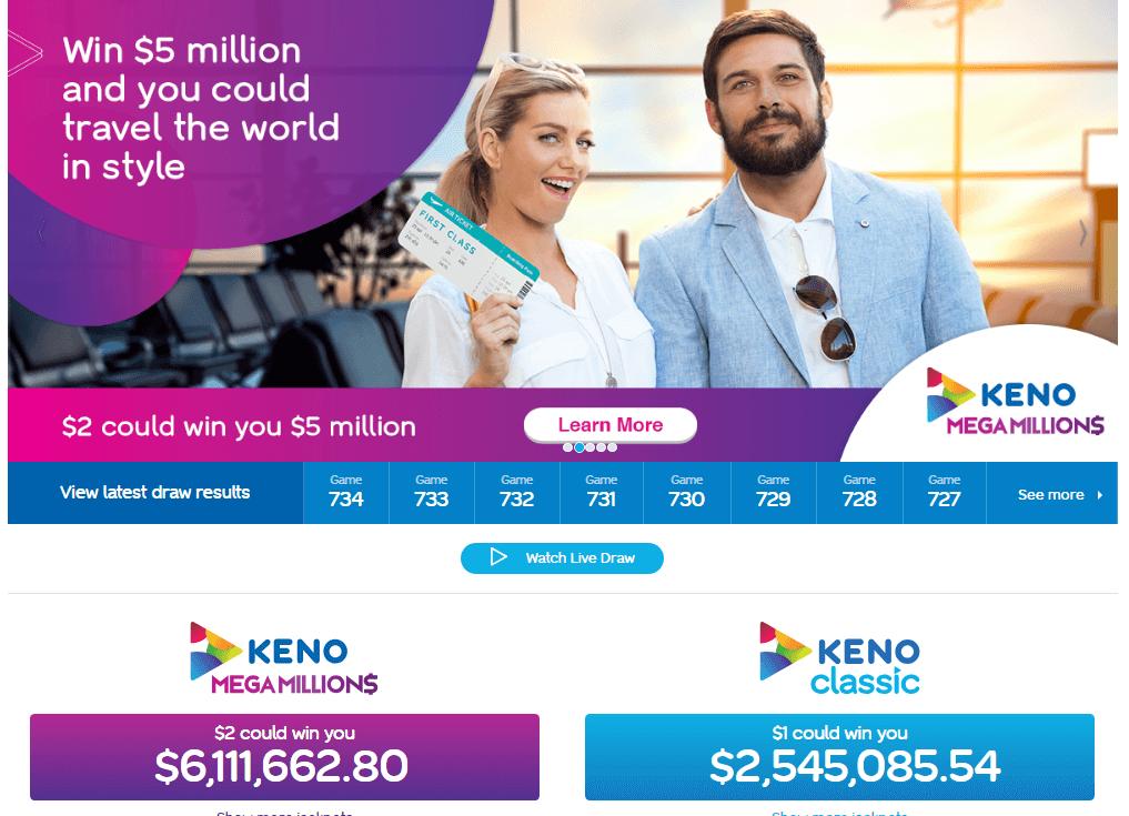 Keno games in Australia