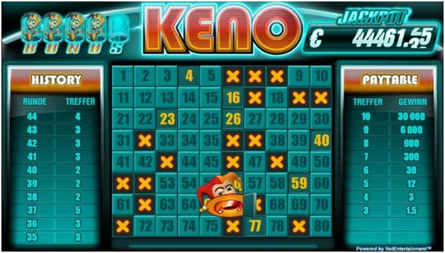 Keno playing tips- Play progressive keno