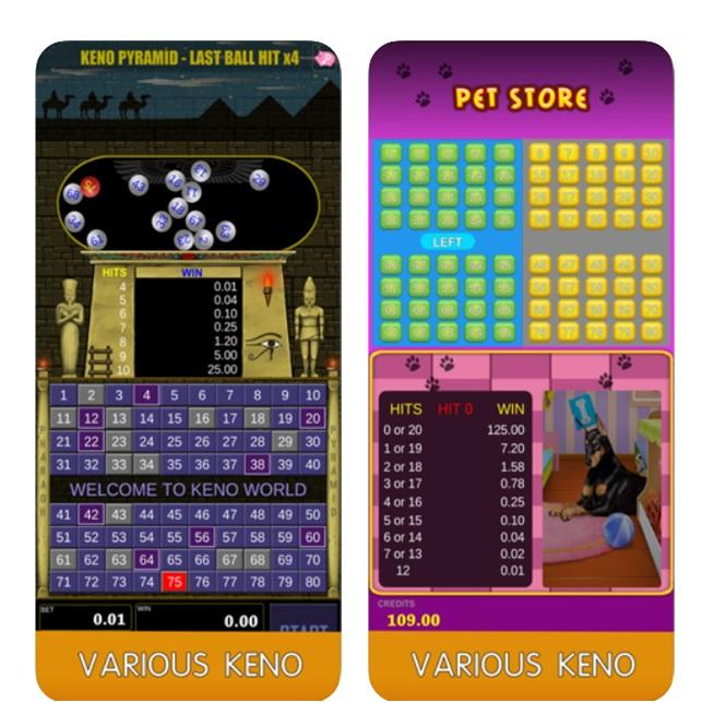 Keno world app features