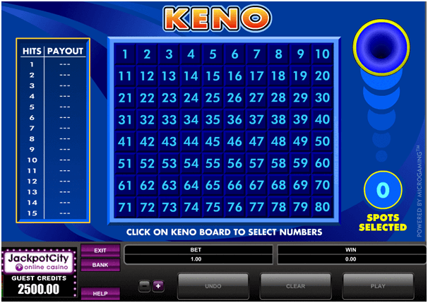 keno online for free