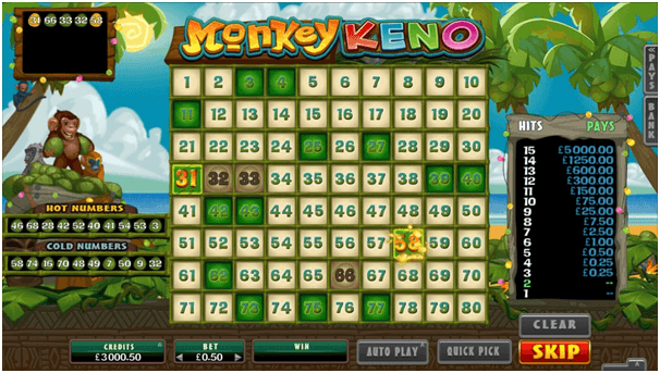 keno online for money