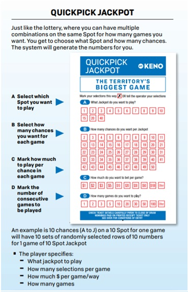 NT Keno Quickpick