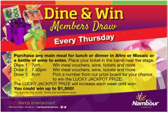 Nambour RSL Club- Promo- Dine and win