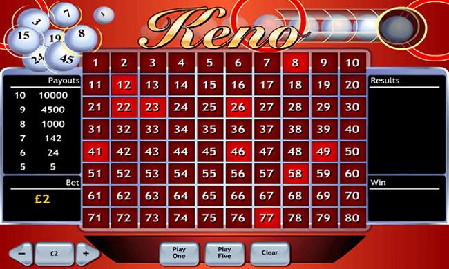 NetEnt online casinos offer the best keno odds on the Internet