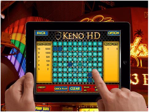 Play Keno with iPad