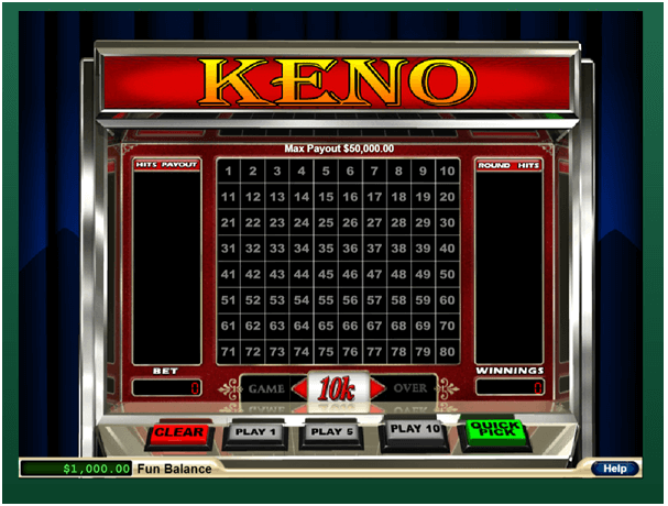 Play Keno with AUD and BTC