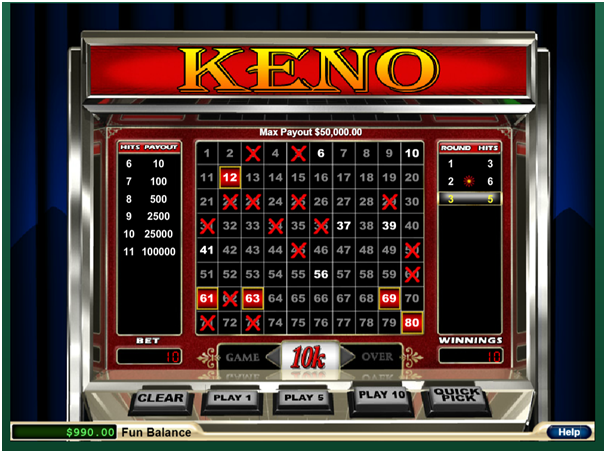 Play Keno with AUD or BTC