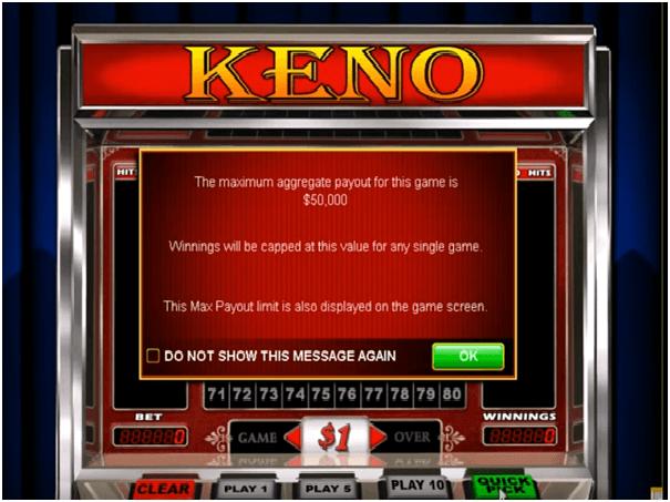 Keno online real money