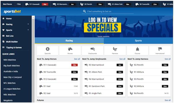 Sportsbet Australia online bookie