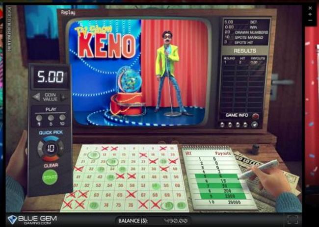 TV Show Keno Rules