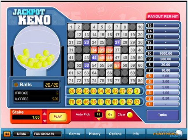 You can become a millionaire playing Progressive Keno Jackpots