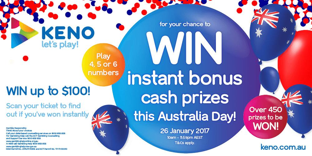 Keno bonus Australia